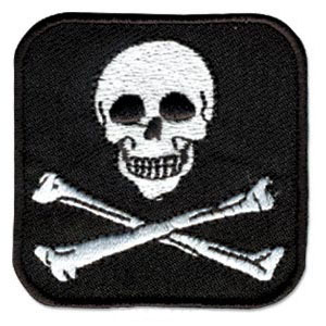 Embroidered Skull Patch