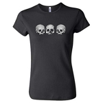 Three Skull Ladies Baby Doll - Black