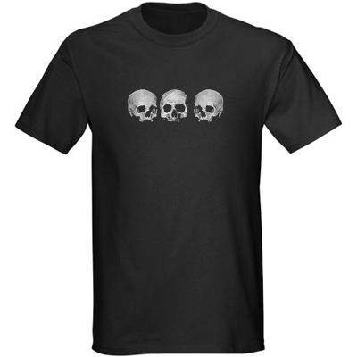 Men's Shirt - Three Skull - Black
