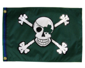 Blarney Bones Pirate Flag 12 x 18