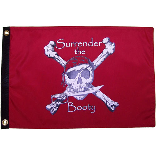 Surrender The Booty in Red 12 x 18