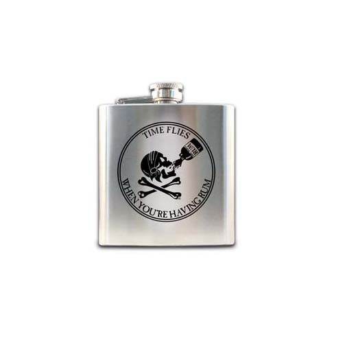 Pirate Flask - Stainless Steel Time Flies