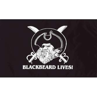 Pirate Flag - Blackbeard Lives! 3 x 5'