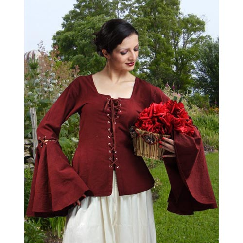 Pirate Renaissance Detachable Sleeves Linen Blouse