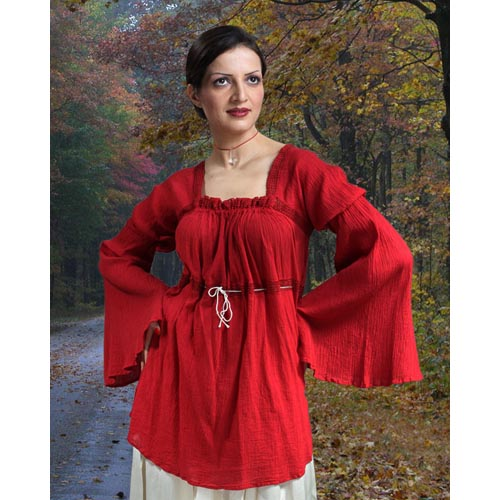 Pirate Cherry Crepe Blouse
