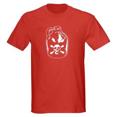 Kids Pirate Shirt - Jug of Rum- Red