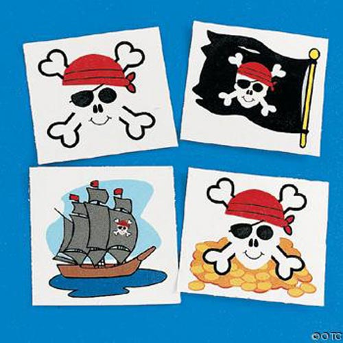 Pirate Tattoos - Variety Pack (3 dozen)