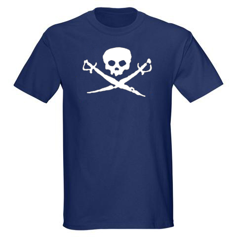 Men's Shirt - Skull and Swords - Navy Blue