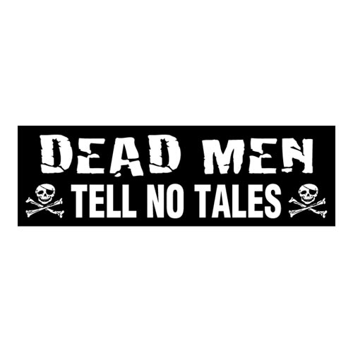 Pirate Bumper Sticker - Dead Men Tell No Tales