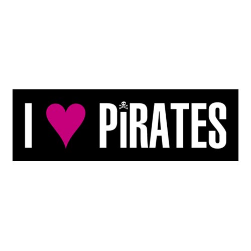 Pirate Bumper Sticker - I Love Pirates