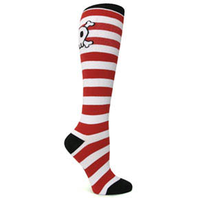 Pirate Knee-High Socks - Pirate Skull