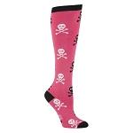 Pirate Knee-High Socks - Pink Skull and Bones