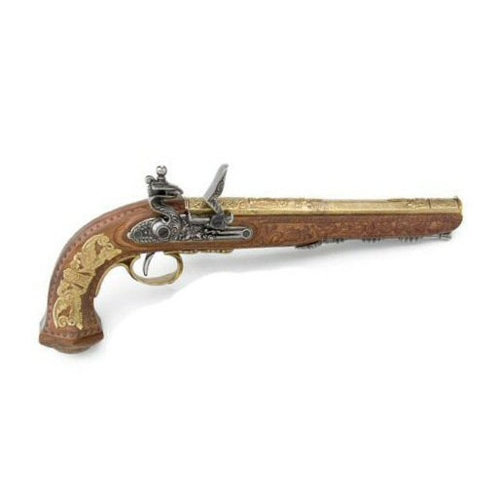 Classic French Dueling Pistol - Gold