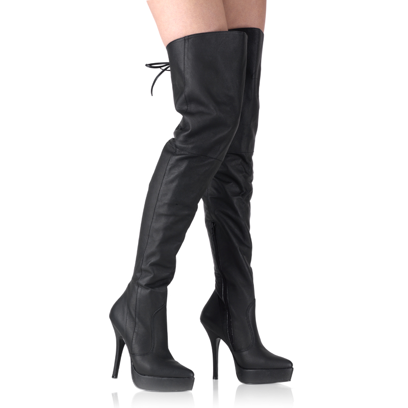 pirate boots demonia indulge 3011 black leather thigh