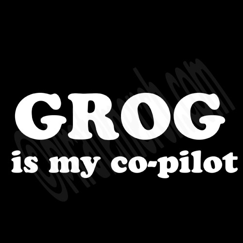 Grog Is My Co-Pilot Women's Pirate Shirt