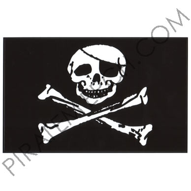 Jolly Roger 5 x 8 Vinyl Sticker