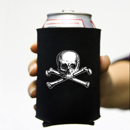 (koozie) Old Skull and Bones