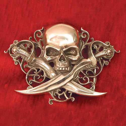 Letter of Marque Ornate Belt Buckle