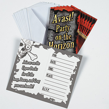 Invitations - Pirate Party Skull (8)