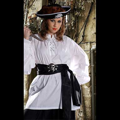 Lady Grace Authentic Pirate Shirt With Detachable Ascot