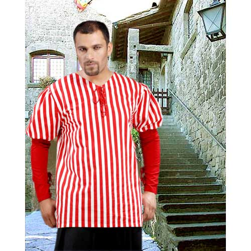 Red Striped Authentic Pirate Shirt