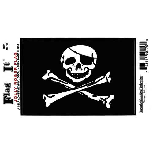 Pirate Bumper Sticker - Jolly Roger 5