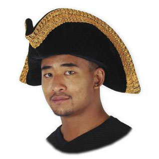 Tricorn Black Pirate Hat