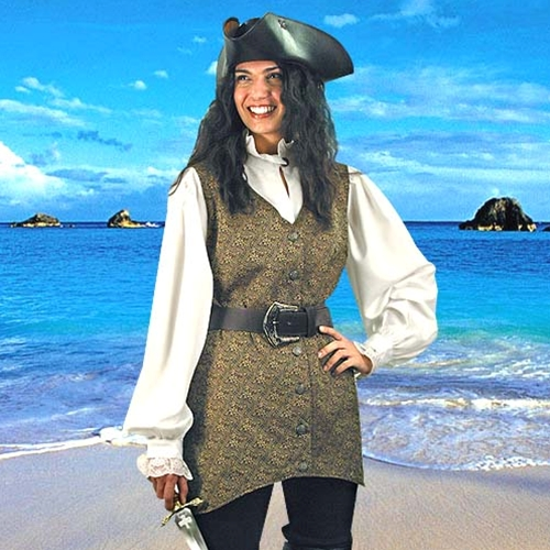 Period Womens Mary Read Pirate Vest