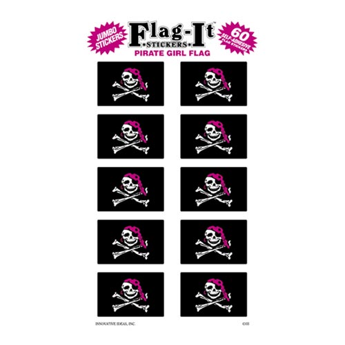 Pirate Girl Flag Decal - 60 pk