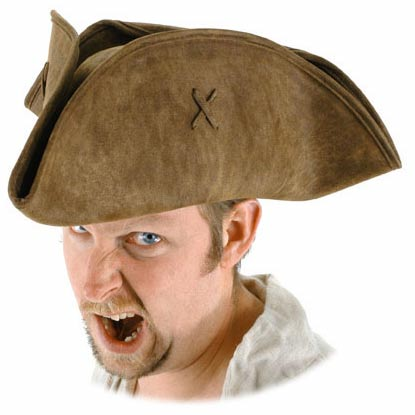 Jack Sparrow Scallywag Pirate Hat - Brown