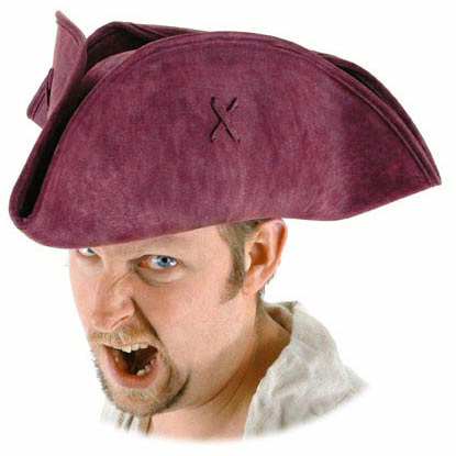 Scallywag Pirate Hat - Red