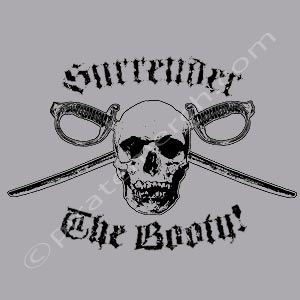 Surrender The Booty Grey Men's T-Shirt