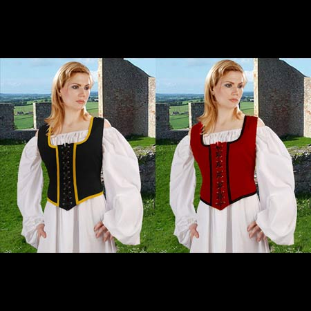 Wench Bodice - Reversible Pirate Corset