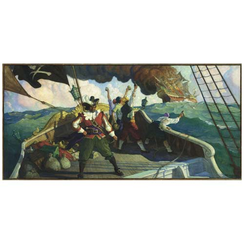 Pirate Fine Art Print - The Pirate by N.C. Wyeth