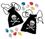 Pirate Drawstring Bag with Jewels