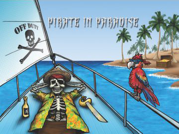 "Pirate in Paradise 12x18"" Flag"
