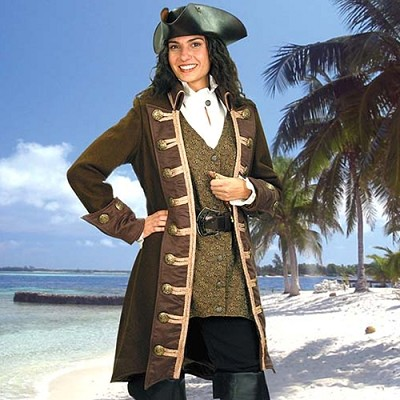 Period Womens Mary Read Pirate Coat