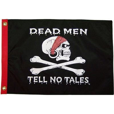 "Dead Men Tell No Tales 12 x 18"" Nylon Flag"