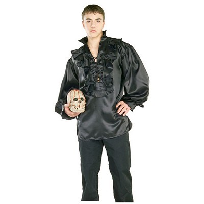 Black Satin Pirate Shirt