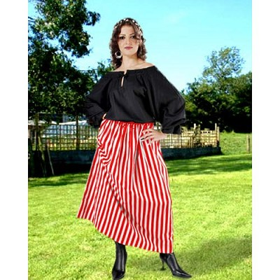 Womens Striped Wench Skirt