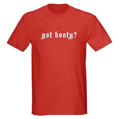 Mens Pirate Shirt - Got Booty? - Red