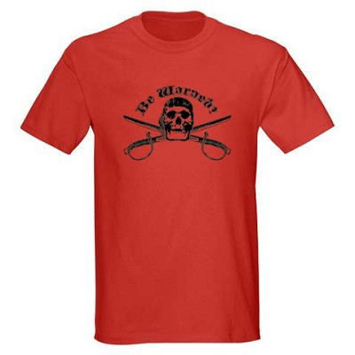 Kids Pirate Shirt - Be Warned Red