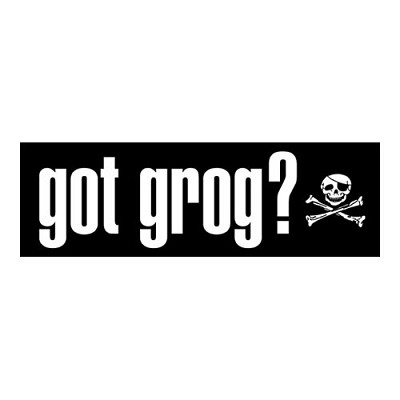 Pirate Bumper Sticker - Got Grog