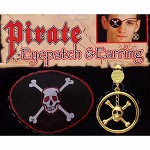 Pirate Earring And Red Glitter Eyepatch Kit