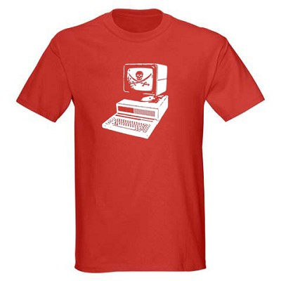 Kids Pirate Shirt - Computer Pirate - Red