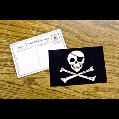 Pirate Postcard - Jolly Roger