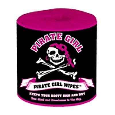 Pirate Toilet Paper Wipes - Pirate Girl