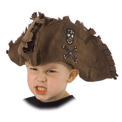 Kids Tattered Pirate Hat
