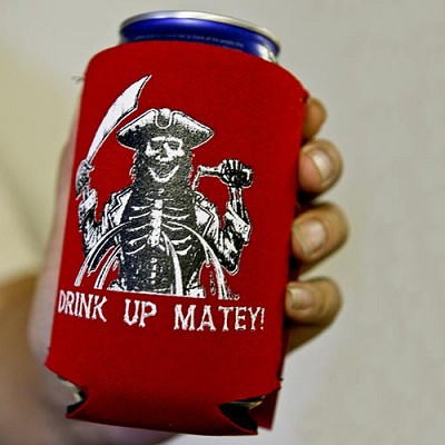 Drink Up Mateys! Can Koozie