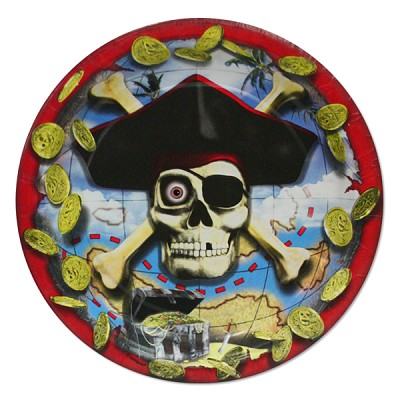 "Pirate Bounty Dessert Party Plates 7"" - 8-Pack"